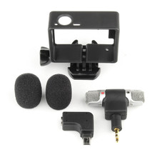 Hot Sale 3.5mm Plug Mini Stereo Microphone with Standard Frame for Gopro Hero 3/3+/4 High Quality #ET