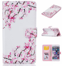 Cheap Phone Case For Apple iPhone 6/6S Fashion Pattern Flip Wallet Case Cover for iPhone 6 Plus PU Leather+TPU Mobile phone Bags