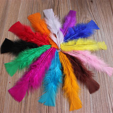 200pcs/lot wholesale DIY 4 to 6 inch/10-15cm feathers bulk of feathers turkey feather flat jewelry accessories(China)