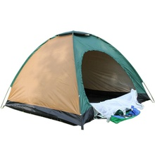 """Sunnyrain""arrival  Two People Single Layer Color Random Camping Hiking Tent Outdoor Nylon Cloth Waterproof Coating"