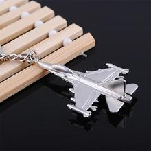 Free Shipping 1PC Fighter Keychain Product Key Ring Jewelry Wholesale Fashion Metal Keychains Airplane F22 Fighter Model