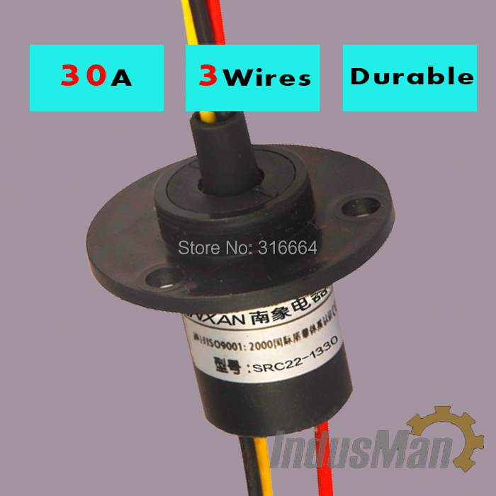 SRC0315  3 Wires 15A  Dia 22mm 500RPM Wind power slip ring connector  <br><br>Aliexpress