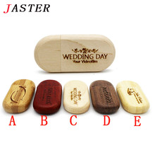 JASTER logo customized Wood usb Flash Drive wooden pendrive 4gb 8gb 16gb 32gb Pen Drive U Disk memory stick wedding gifts