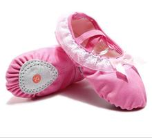 Quality Girl Daisy Ballet Shoes Canvas Slippers Lace Bowtie Decorated Baby Pink Coffee Black Kids& Adult Size Free Shipping