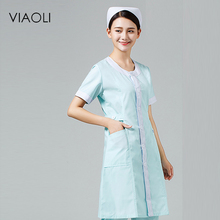Viaoli Hospital Medical Clothes Round neck Fashionable Design Slim Fit Scrubs Beauty Salon Nurse work clothes(China)