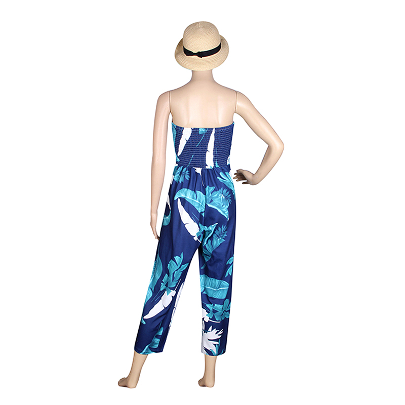 Causal Women Jumpsuits Off Shoulder Summer Bodysuit Combinaison Femme Beach Sexy Rompers Jumpsuits Pants WS390E 12