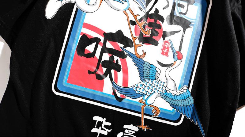 Japanese Crane Tshirts 6