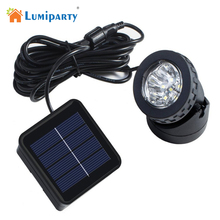 LumiParty Solar Lamp Waterproof Garden Lighting Led Solar Outdoor Light Spotlight Outdoor Landscape Lighting Underwater Lights(China)