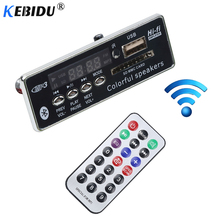 Carro USB Do Bluetooth Hands-free MP3 Player Integrado Kebidu Decodificador MP3 Módulo Board com Controle Remoto FM USB Aux Rádio para carro(China)