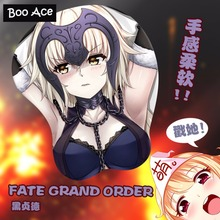 FATE GRAND ORDER Anime 3D Boobs Ecchi Mousepad with soft Silicon Gel Wrist Rest(China)