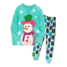 Christmas Wear Pajama Sets Children Clothing Boy Girl Outfits Sleepwear Underwear 2pcs Set Tops +Pants Set in stock HL01(China)