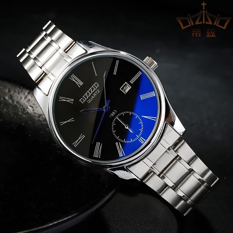 Ultra-thin male watch mens watch steel strip waterproof watch fashion trend sports quartz watch <br>