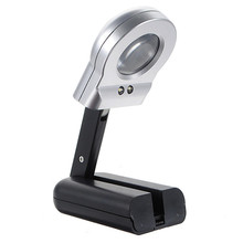 High Standard 16X 30mm Illuminated Magnifier Magnifying Glass LED Folding Stand Jewelry Loupe Watch Repair Tools