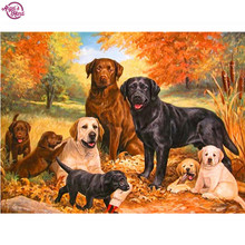 Rhinestone Diamond painting mazayka 3D DIY animal dogs rottweiler natural 3D pattern diamond embroidery mosaic room picture(China)