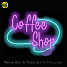 "Coffee Shop Cafe Neon sign Glass Tubes Light Bar Beer Club Custom Neon signs Bulbs Shop Store Home Decoration Signboard 17""x14""(China)"