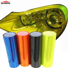 ZATOOTO  30*200cm Car Light Sticker Film Fog Light HeadLight Taillight Tint Vinyl Change Color Films 3 Layer