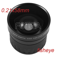 Buy Fotga 58mm 0.21X Wide Angle Fisheye Lens Canon Nikon Sony DSLR Cameras for $41.00 in AliExpress store