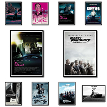 Fast and & Furious / Drive / ryan gosling/ High Definition Movie Wall Stickers Home Decoration White Coated Paper 42*30cm(China)