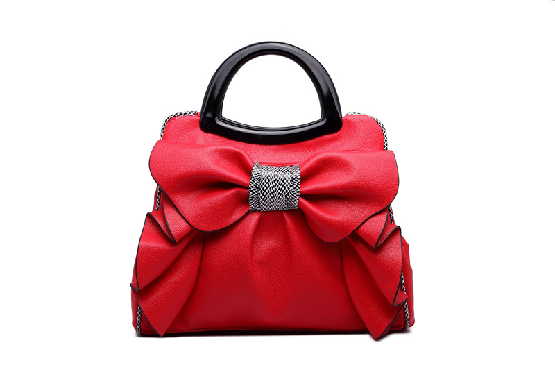 2017 Qiaoduo Bow Knot Leather Women Handmake  Handbag Fashion Women Crossbag Shoulder Bag<br>