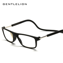 Upgraded Unisex Magnet Reading Glasses Men Women Colorful Adjustable Hanging Neck Magnetic Front presbyopic glasses 057(China)