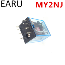 Free Shipping MY2P HH52P MY2NJ Relay Coil General DPDT Micro Mini Electromagnetic Relay Switch with LED AC 110V 220V DC 12V 24V