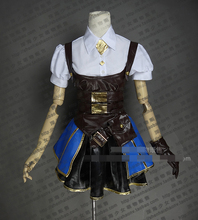 LOL Annie Hextech Steam Punk Custom Size Uniforms Cosplay Costume Free Shipping(China)