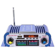 HY601 Car Power Amplifiers 12V LED Car Stereo Amplifier Audio Speaker Hi-Fi 2 Channel Digital Display Support USB/MP3/FM/SD/DVD