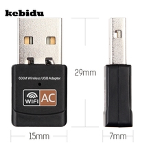 kebidu High speed 600 Mbps Mini Wireless Wifi Adapter 2.4GHz 5GHz USB WiFi antenna Dual Band computer Network Card