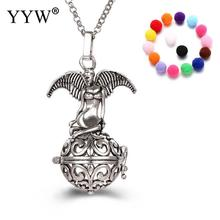 YYW Angel Shape Perfume Aromatherapy Pendant Essential Oil Diffuser Pregnant Ball Locket Cage Colorful Pendant Women's Gift