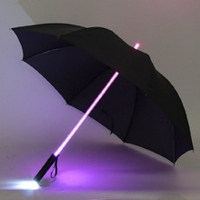 LED Lightsaber Light Up Umbrella with 7 Color Laser sword Light up Golf Umbrellas Changing On the Shaft/Built in Torch at Bottom