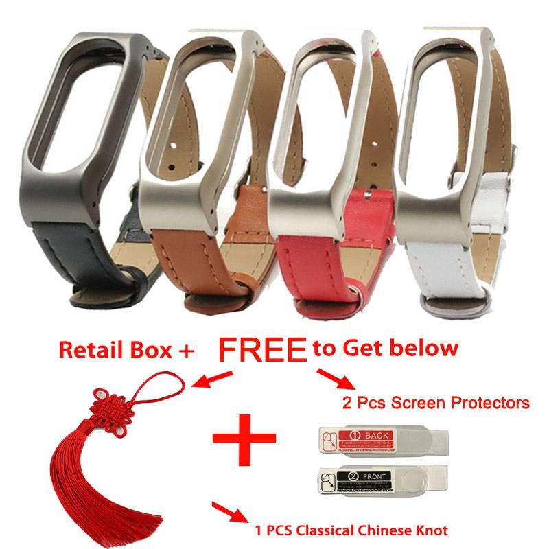For Xiaomi Mi Band 2 Leather Strap Wrist Band For Mi band 2 Screwless Bracelet for Miband 2 For mi 2 wristband Smart Accessory 1