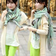 2016 HOT Best Women Long Print Clock Scarf Wrap Ladies Shawl Large Voile Scarves Women's Fashion Scarves