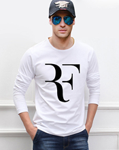 Brand Roger Federer RF men long sleeve t shirt 2016 new autumn style 100% cotton o-neck fashion casual plus size top tees(China)