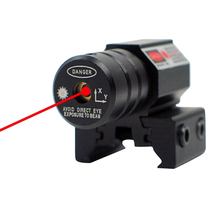 Professional Red Dot Laser Sight  50-100 Meters Range 635-655nm Pistol Adjust 11mm and 20mm Picatinny Rail for Outdoor Hunting
