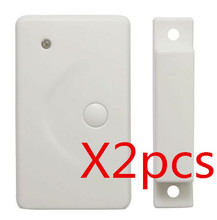 2pcs Wireless Window/Door Sensor Magnetic Contact with Panic Button,433/315MHz  Alarm System Security