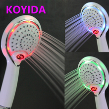KOYIDA Water Temperature Led Shower Head Digital Display Temperature Lights Change 3 Color Showerhead Handheld Bath Shower ducha(China)