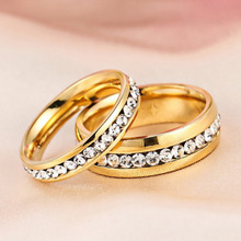 New Arrival Latest Fashion Simple Single Row Of Small Gold Color  Ring Jewelry Free Shipping