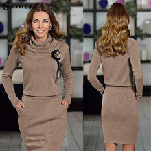 Women dress casual robe femme 2016 fashion dress Long sleeve sexy Women's Clothing