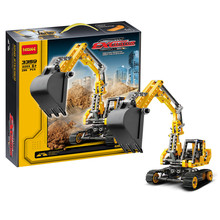 2016 New decool 3359 Track mobile excavator building blocks kids Technology Series Site Toys & Educational Compatible
