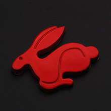 Auto Red ABS Rabbit Sticker 20th Anniversary Emblem Decal Badge Car Sticker fit for VW Mk4 GTI Golf Car Styling CAR-COVERS