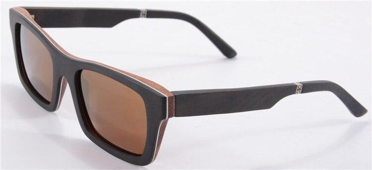 Luxury Ebony+Aluminum+Pear Wood Sunglasses Women Men Fashion Summer Eyewear Square Polarized Driving Glasses Shade 6033<br><br>Aliexpress