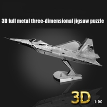 3D Metal Puzzle Early Educational Toys Aircraft Fighter Helicopters Model Jigsaw Puzzle Plane Tangram Kids Toys For Boy/D033