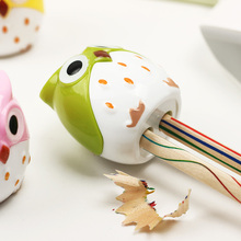 2 PCS Random Color Mini Kawaii Funny Owl Pencil Sharpener Cutter Knife School Student Stationery Supplies