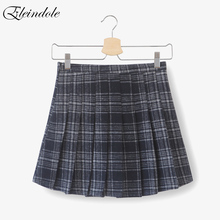 Buy Eleindoel 2017 New Winter Skirts High Waist Bouffancy A-line Plaid Female Skirt Zipper Preppy Sexy Woolen Mini Skirt Women for $29.59 in AliExpress store