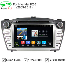 "HD 7"" 1024*600 ROM 16GB Quad Core Android 5.1.1 Auto PC Android 5.1 Car DVD GPS For Hyundai Tucson IX35 Stereo Radio 2009-2012"