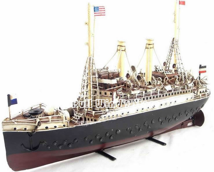 1915 Marklin cruise ship Mark Purcell iron ship model Creative handmade iron passenger ship model 19th Century Cruises Model(China (Mainland))