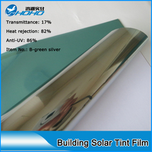 Premium green sliver Solar control window film PET material Solar tint film Building window tint film 152cmx50cm(China)
