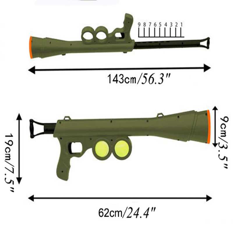 Funny Dog Tennis Ball Launch Gun for AK47 Pet Training Toy Remote Speed Agility Equipment Dog Interactive Toys Pet Shop Supplies5