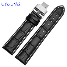 Quality Genuine Leather Watch Bands Strap Black Brown Men Women Watch Strap For CASIO Brand General