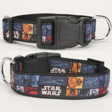"NEW 1""25mm hot star wars pattern printed Dog Collar,1 inch top Dog Collar 2 size avaiable(China)"